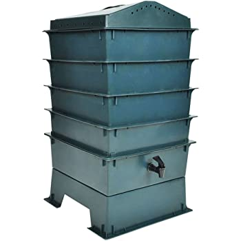 vidaxl 4 tabletten wurm farm wurmkomposter komposter inkl einstreumaterial k che. Black Bedroom Furniture Sets. Home Design Ideas
