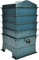 vidaXL 4 Tabletten Wurm Farm Wurmkomposter Komposter inkl. Einstreumaterial