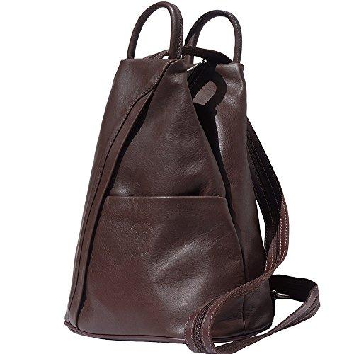 Rucksack Handtasche und Schultertasche 2061 Dunkelbraun