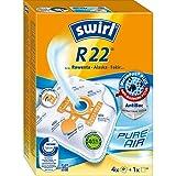 Swirl R 22 MicroPor Plus Staubsaugerbeutel für Rowenta, Alaska, Fakir Staubsauger, Anti-Allergen-Filter, 4 Stück inkl. Filter