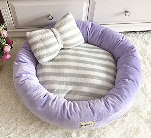 CJHK Flauschige Hundedecke 45x14cm Katzen Decke mit super Soft weiche zweiseitige Flauschige Haustier-Decke, Überwurf für Hundebett Sofa und Kennel,Purple,L