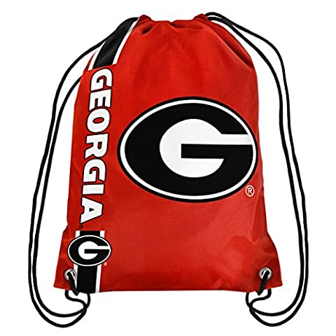 Forever Collectibles Unisex Big Logo Georgia 2015 Drawstring Backpack, Georgia Bulldogs, 18