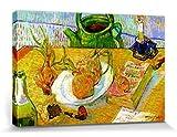 1art1 57318 Vincent Van Gogh - Stillleben Mit Zeichenbrett, Pfeife, Zwiebeln Und Siegellack, 1889 Poster Leinwandbild Auf Keilrahmen 120 x 80 cm