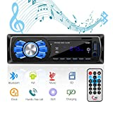 Autoradio Bluetooth Stereo, Mekuula Autoradio Bluetooth Ricevitore Car Radio Station 4x50W 1 DIN Stereo Car Player Supporta FM / USB / Micro SD / AUX / Bluetooth / Telecomando