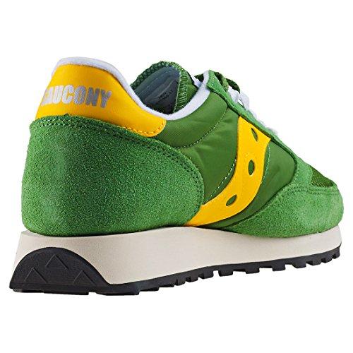 Saucony Jazz Original Vintage, Sneaker Uomo Verde (arbre / Yel 17)