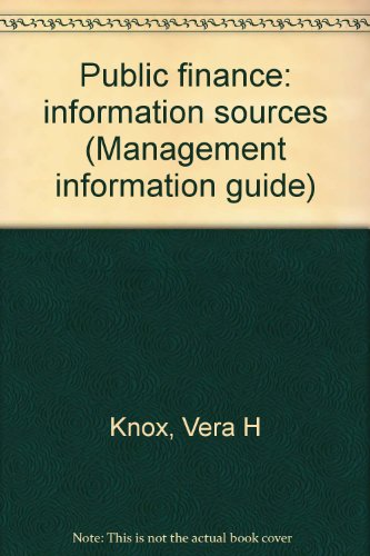 Public finance: information sources (Management information guide)
