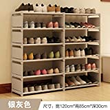 ASIBG Home Einfache Schuhputzmaschine Schuhputzmaschine Montage stahl Staub mit multi Haushalt moderner Schuhschrank, m