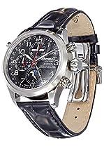 Ingersoll Herren-Armbanduhr XL Cooke Chronograph Automatik Leder IN6110BK