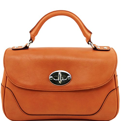 Tuscany Leather TL NeoClassic - Sac Bauletto en cuir Cognac Sacs à main en cuir Cognac