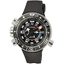 Citizen  Promaster Marine - Eco-Drive Aqualand - Reloj de cuarzo para hombre, con correa de goma, color negro