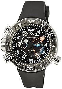 Citizen Promaster Marine Eco Drive Aqualand Reloj de cuarzo para hombre con correa de goma color negro
