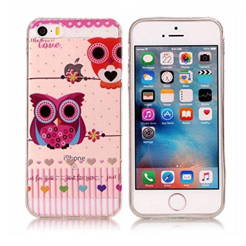 iPhone 5S Custodia,iPhone iPhone 5 / SE copertura, piuttosto gufo Patate Custodia in TPU Gel Ultra sottile [Trasparente] Custodia protettiva in gomma flessibile case cover para for iPhone 5 / SE /5S colour . 3