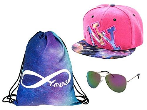 Alsino Hipster Festival Cap Nerd Brille Girls pink Pilotenbrille Rucksack Outfit Hip 1