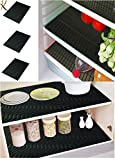 #9: Kuber IndustriesTM Refrigerator Drawer Place Mats (13*19 Inches_Black_Pack of 6)