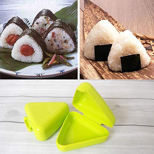 clifcragrocl Stampi per Dolci Triangle Sushi DIY Nori Rice Ball Box Press Stampo Onigiri Maker Kitchen Tool - Colore Casuale