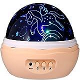 Última Noche Luz para chica, unicornio proyector, Fantasy, 4bombillas LED 8Modos de lámpara y giratorio, unidad unicornios y algunos diamantes, estrellas proyector para habitación de los Niños y Fiesta