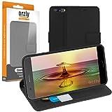 ORZLY® OnePlus 5 Hülle, Multi-Functional Wallet Stand Case für OnePlus 5 Smartphone (2017 Modell Handy) - SCHUTZHÜLLE mit integrierte Brieftasche + Stand mit Magnetischen Deckel - SCHWARZ