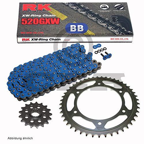Chaîne de montagne Husa FE 501 Enduro 00-01, RK BB 520 GXW 120, bleu, ouvert, 14/48