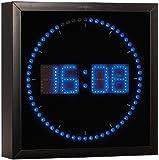 Lunartec LED Wanduhr groß: LED-Wanduhr mit Sekunden-Lauflicht aus blauen LEDs (LED Wanduhr Digital)