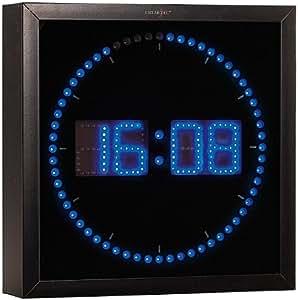 lunartec led wanduhr gro led wanduhr mit sekunden lauflicht aus blauen leds led wanduhr. Black Bedroom Furniture Sets. Home Design Ideas