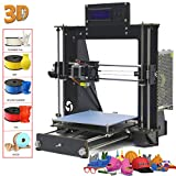 Win-Tinten Intelligence Desktop A8 Prusa I3 3D-Drucker DIY-Kits, Holz DIY Kit Prusa i3 3D Desktop Drucker, hohe Präzision DIY 3D Drucker (DIY -)