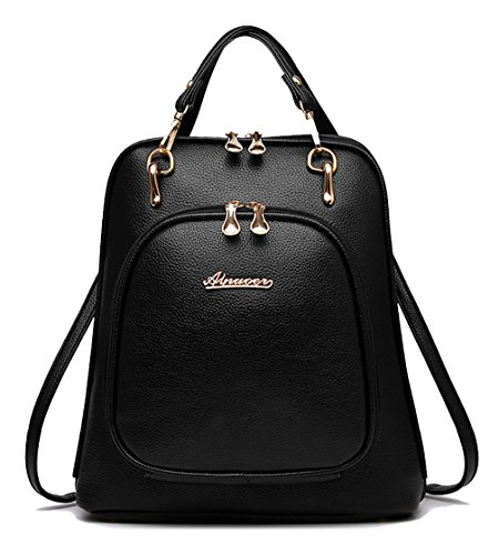 Respeedime , Damen Rucksackhandtasche Schwarz schwarz M schwarz