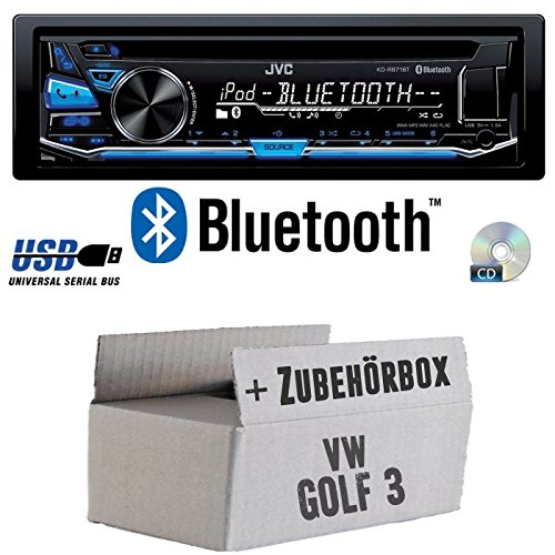 VW Golf 3 III - JVC KD-R871BT - Bluetooth CD/MP3/USB Autoradio - Einbauset