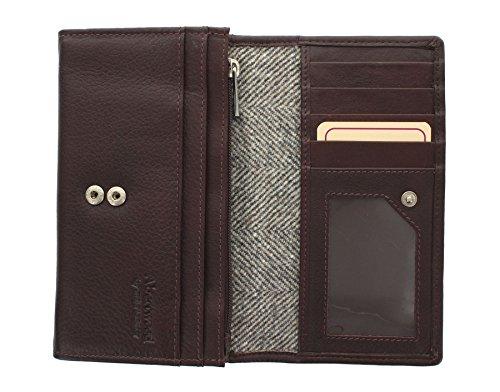 Pelle Mala Leather Collection ABERTWEED & Tweed Flap Negli borsa 3175_40 rosa confetto Herringbone