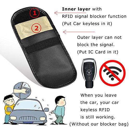 Strahlenschutz Tasche für Wagen Schlüssel, RFID Blocking Hülle für autoschlüssel, Abschirmung Keyless-Go-System entry und zentralverriegelung zum Schutz gegen Autodiebstahl gekauft Fahrzeug schutzhülle, Key safe Etui