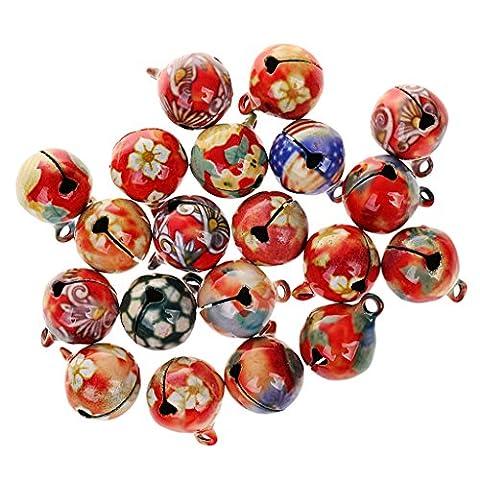 MagiDeal Glöckchen, Schellen Glocken, Metallglöckchen, Weihnachtsglocken, 16mm, Bunte, Weihnachtsschmuck, (Weihnachten Läuten Glocken)