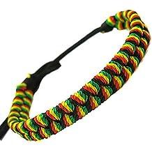 Bracelet Tresse Rasta Jamaique Afrique Ajustable Reggae Tissu