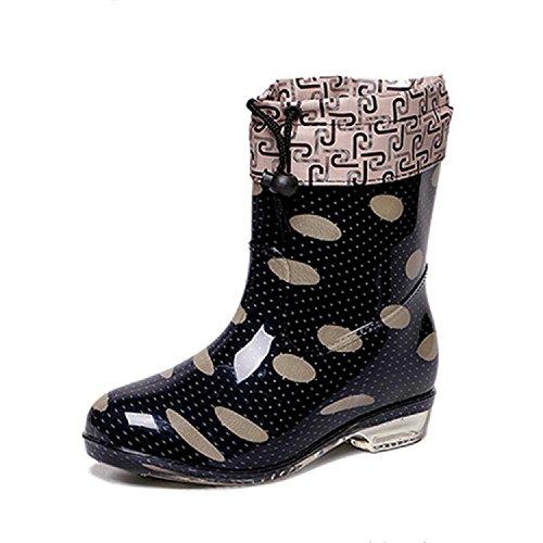 Mlle dérapage moucheture bottes de pluie Black