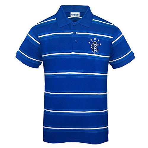 Rangers FC Official Football Gift Mens Striped Polo Shirt Royal Blue XXL 02cc26096