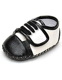 estamico Toddler Girl 's costura, cuero, caucho Sneaker