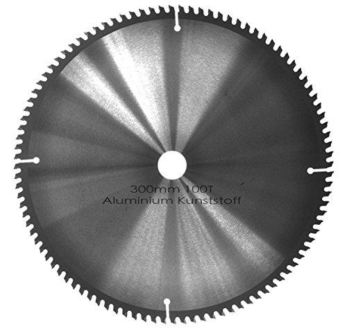 Kreissägeblatt Aluminium Kunststoff NE-Metalle Ø 300mm x 30mm HM 100 Zähne - Diamantschliff - inkl. 4 Reduzierringen. (Aluminium-kreissägeblatt)