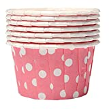 TOOGOO(R) Pink Wave-Punkt Cupcake Muffinform Papierforrmchen Hochtemperaturbestaendig 100Stueck