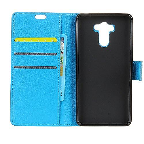 Klassische Litchi Texture PU Leder Schutzhülle Hülle Folio Flip Stand Case Cover mit Kartensteckplätzen für Xiaomi Hongmi 4 PRIME ( Color : Black ) Blue