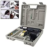Bond Hardware® Cordless Rechargeable Mini Rotary Dremel Style Drill Grinder Set Hobby Craft Model Making with 60 Accessories and Case