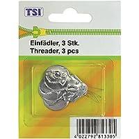 TSI enhebrador, Metal, Plata, 5x 2x 0.1cm, 3Unidades de Medida