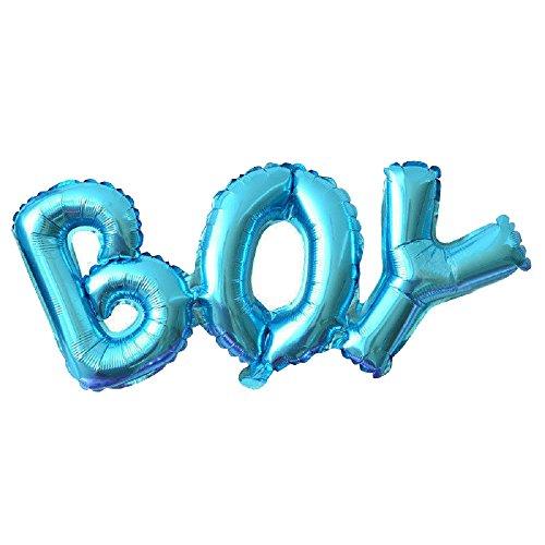 ILOVEDIY Baby Girl Folienballon Luftballons Dekoration Zum Party Hochzeit Geschenk (Blau Boy)