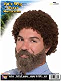MyPartyShirt Bob Ross Wig and Beard with Moustache