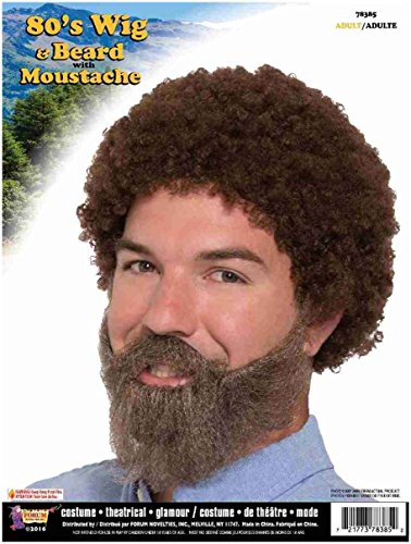 MyPartyShirt Bob Ross Wig and Beard with ()