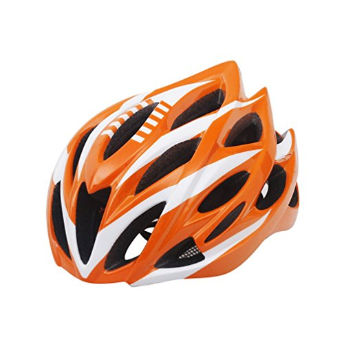 Yuncai Leicht Multi-Sport Professional Radfahren Extreme Draussen Sports Poröse Belüftung Schutzhelm Orange 52-60CM