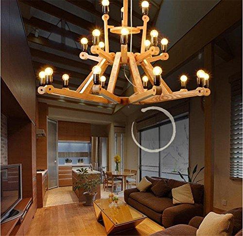 Modylee ristorante Nordic lampadario lampada creativa tronchi di legno di design personalità vita semplice sala (Filigrana Pendente Di Montaggio)