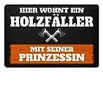 Shirtee Hochwertige Fußmatte - Fußmatte für alle Holzfäller/Kettensäge/Axt/Pullover/Jacke/Fußmatte
