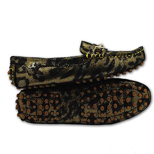 Minitoo ,  Damen Espadrilles Gold/Brown Snake-print