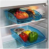Provance Juego de 3 Frigorífico Organizador almacenar Caja Congelador despensa para Guardar Comida de Verduras Fruta