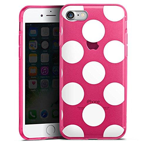 Apple iPhone 7 Silikon Hülle Case Schutzhülle Muster ohne Hintergrund Punkte Polka Dots Silikon Colour Case pink