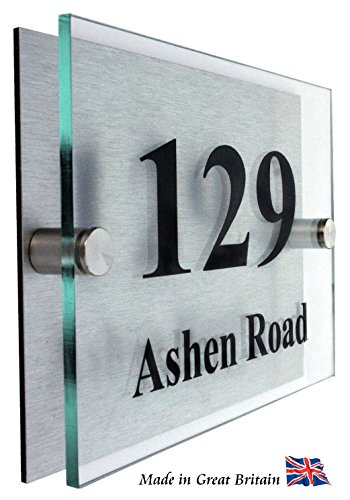 Hausnummernschild aus Acrylglas thumbnail
