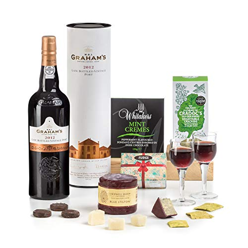 Hay Hampers Port & Stilton Traditional After Dinner Christmas Hamper Box - FREE UK Delivery